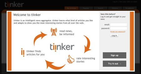 Tiinker, feeds personalizados a tus gustos