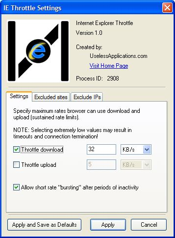IE Throttle y Firefox Throttle, gestionando el ancho de banda