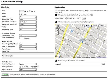 Dual Maps, lo mejor de Google Maps y Microsoft Virtual Earth Maps