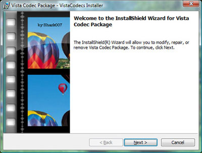 Vista Codec Package, todos los códecs de audio y video para Windows Vista