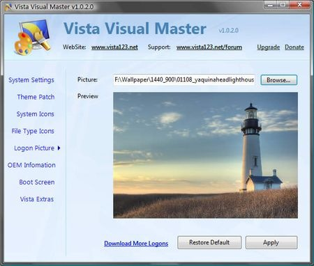 vista visual master