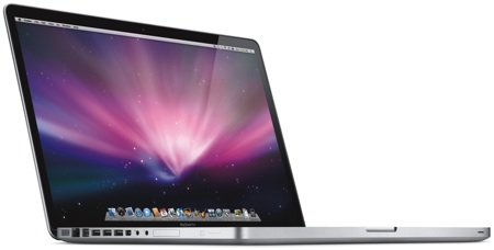 Apple MacBook Pro 17 pulgadas ladeado
