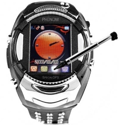 movil con reloj y camara de video phenom specialops