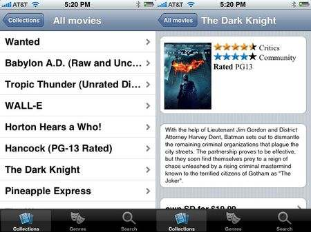 Vudu for iPhone