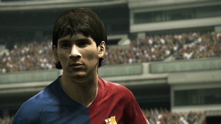 PES 2010 Leo Messi in game