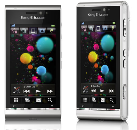 Sony Ericsson Satio de color gris plata