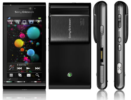 Sony Ericsson Satio de color negro