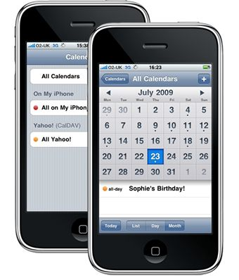 Yahoo! Calendar ya sincroniza con iPhone