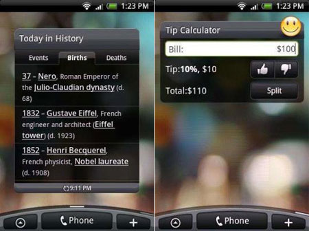 HTC Sense History Calculator