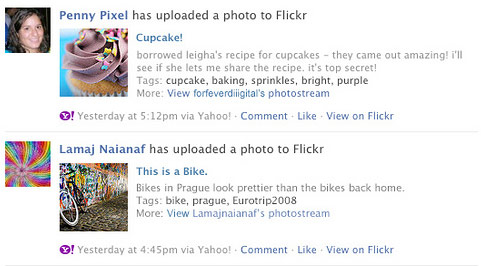 Flickr y Facebook
