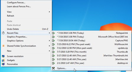 how to clear recent files in windows 2010