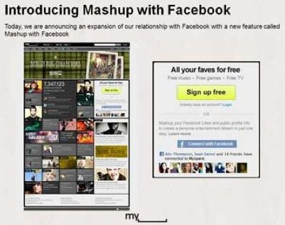 Mashup with Facebook