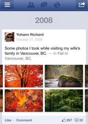 facebook android timeline