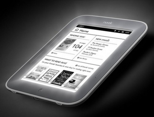 A escena el Nook Simple Touch de Barnes y Noble