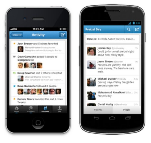 Twitter Android iOS