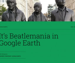 Beatlemanía en Google Earth