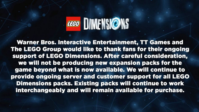 El final de LEGO Dimensions
