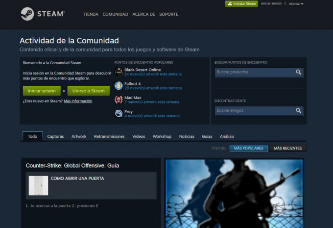 Usar Steam